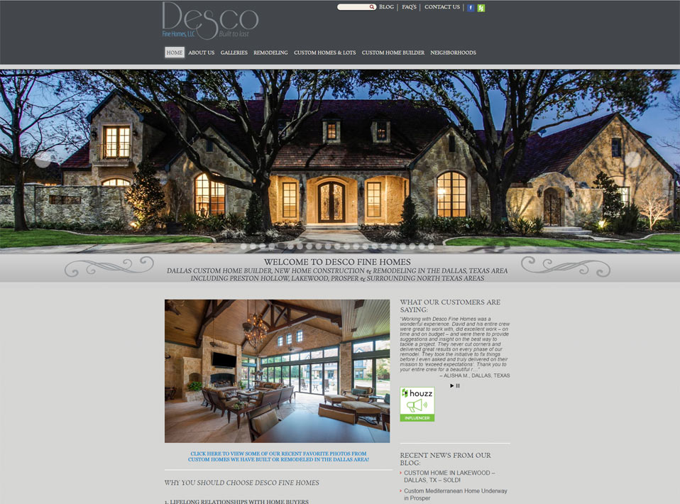 Real Estate Home Builder Web Site